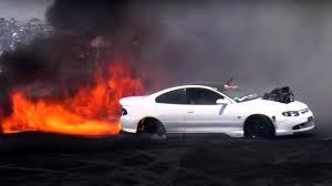 subaru fire video why do crazy burnout cars catch fire top gear