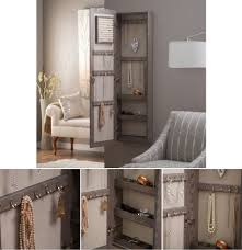 Jewelry Cabinets Wall Mounted by Mirrored Jewelry Armoire Wall Mounted Locking Storage Organizer