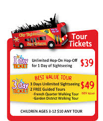 Restaurant Map New Orleans by Hop On Hop Off New Orleans Bus Tours City Sightseeing