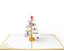 pop up christmas tree card merry christmas