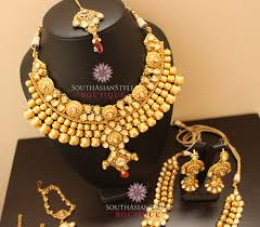 gold jewelry sets for weddings antique gold gram kundan bridal jewellery set 04 things to wear