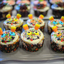 Halloween Cupcake Decor Creepy And Silly Halloween Cupcakes Gray Barn Baking