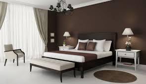 braune schlafzimmerwand haus renovierung mit modernem innenarchitektur kühles braune