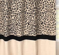 Leopard Curtains Brown U0026 Black Animal Print Window Curtains Set Of 2 Drape Panels