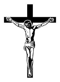 jesus on the cross decal sticker