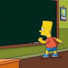Bart Simpson Meme - psbattle bart simpson writing on a chalkboard rebrn com