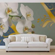 pattern flowers orchids abstract wall paper mural buy at europosters original price