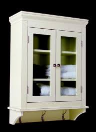 bathroom white wooden bathroom wall storage cabinets with glass