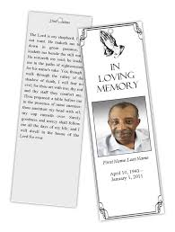 funeral obituary templates funeral bookmark template