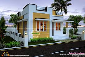 small bungalow house with free floor plan and interior design