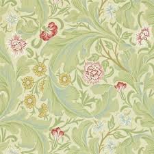 leicester wallpaper green coral 212543 william morris u0026 co