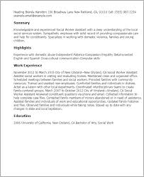 Sample Of Social Worker Resume by Professional Social Worker Assistant Templates To Showcase Your