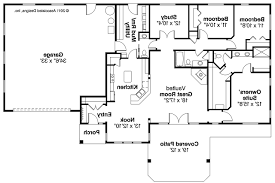 One Story Ranch House Plans by Ranch House Plans Fieldstone 30607 Associated Designs Ranch Style
