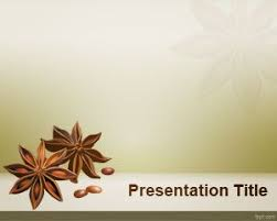 free star anise powerpoint template