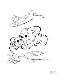 nemo coloring pages finding free printable kids