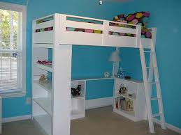 Wood Loft Bed Design by Furniture Bold White Wood Loft Bed Desk Combo Design Multi
