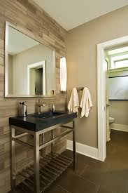 Tile Accent Wall Bathroom Stone Forest Sinks Bathroom Rustic With Accent Tile Accent Wall