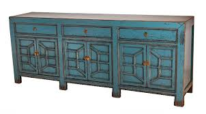 blue sideboard media console cabinet with drawers buffets media