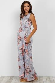 floral maxi dress light blue floral sleeveless pocket maxi dress