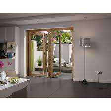 Wickes Bi Fold Doors Exterior Wickes Cairo External Aliminium Clad Oak Bi Fold Door White 8ft