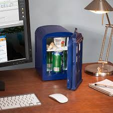 Small Desk Refrigerator Doctor Who Tardis Mini Fridge Thinkgeek
