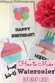best 25 watercolor birthday cards ideas on pinterest watercolor