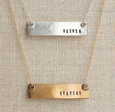 Bar Necklace Personalized Personalized 16