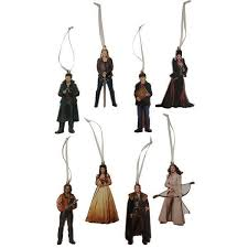 once upon a time metal ornaments set of 8 icon heroes