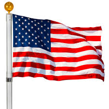 American Flag Specs Flagpole Telescopic 25 U0027 Aluminum Flag Pole Outdoor Garden Solid