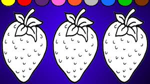 puzzle strawberry coloring page colorful strawberry youtube