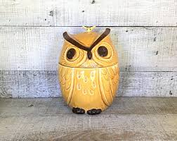 owl canisters for the kitchen owl canisters etsy