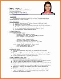 resume for application format resume format sle for application best of resume format