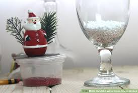 wine glass snow globes how to make wine glass snow globes 10 steps with pictures