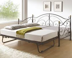 bed white wrought iron daybed with trundle beautiful wrought