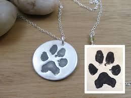 pet remembrance jewelry custom paw print necklace pet remembrance jewelry paw print