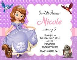 sofia the birthday sofia birthday party invitations templates