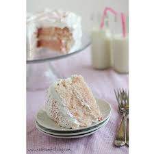 cherry chip cake with fluffy frosting taste and tell