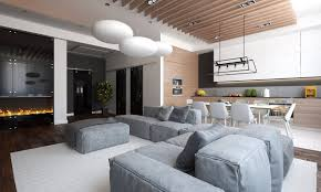 Luxury Apartment Design For A Young Family RooHome Designs  Plans - Luxury apartment design