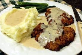 texas chicken fried steak with all the fixin u0027s anotherfoodieblogger