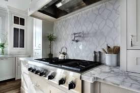 White Wooden Shelves by Kitchen Backsplash Tile White Glass Countertop White Cupboard