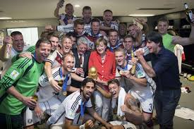 angela merkel s world cup german chancellor joins in the