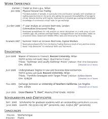 Best Resume Example by An Example Of A Good Resume