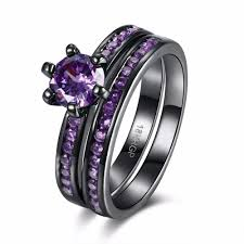 black and purple engagement rings get cheap 18k ring settings aliexpress alibaba