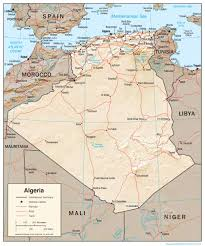 algeria physical map algeria map political algeria map outline blank