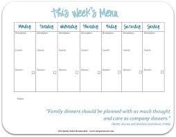 free printable weekly meal planner weekly meals meals and menu