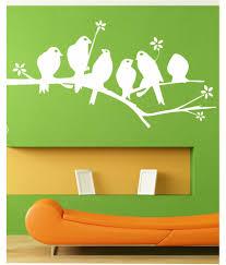 ddreamz white seating birds wall sticker buy ddreamz white seating birds wall sticker