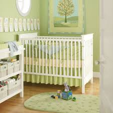 Crib On Bed by Bedroom Round Window Above Casual Crib On Wooden Floor Closed