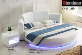 round platform bed led light round platform bed w 10 memory foam mattress cy001le