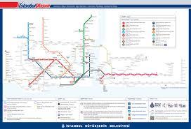 Istanbul Turkey Map Marmaray Trains Istanbul Turkey