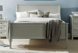 Maine Bedroom Furniture Julian Bowen Maine Shaker Style Beds Dove Grey Finish